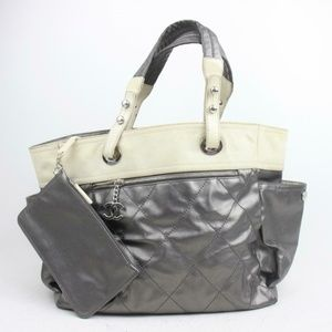 Auth Chanel Hand Bag Silver #1610C30